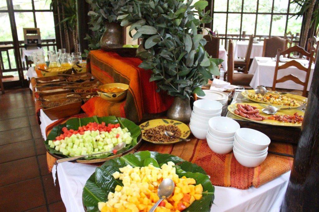 Inkaterra Machu Picchu Pueblo breakfast buffet