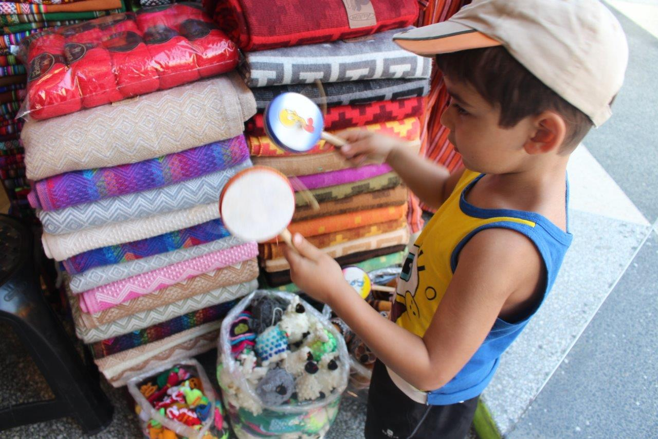Noah found some things for himself also at Mercado Inca