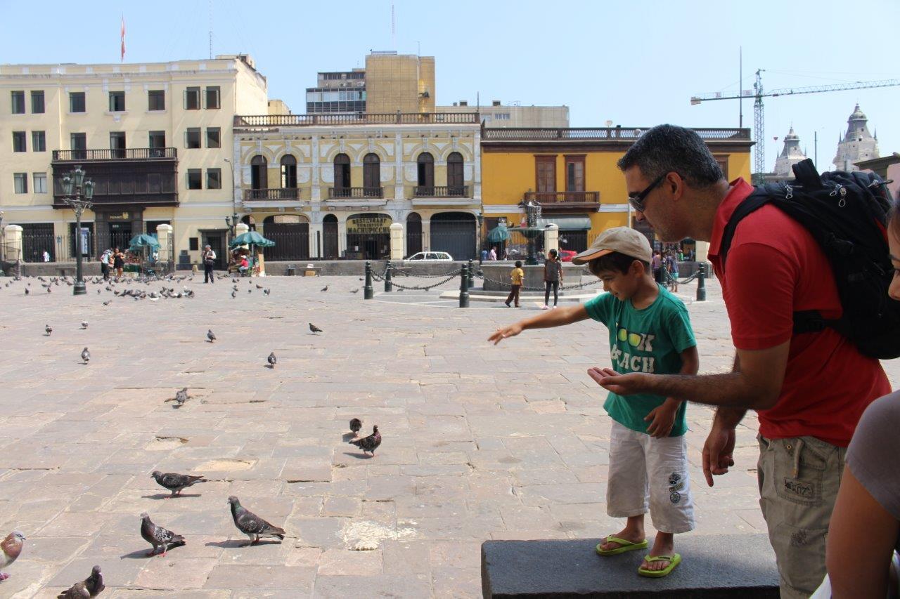 Noah also enjoyed the tour through the historic Lima