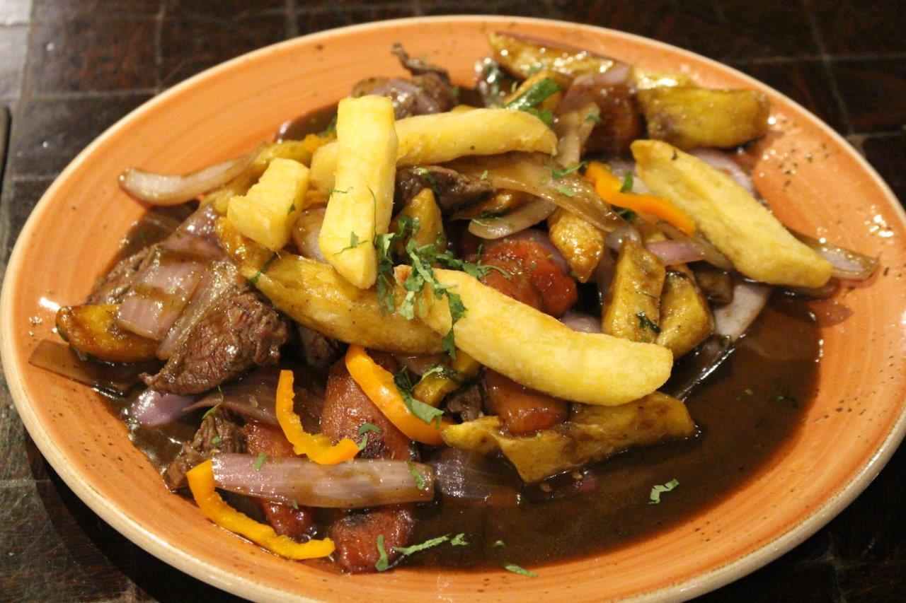 The delicious Lomo Saltado served at Restaurante Panchita in Lima