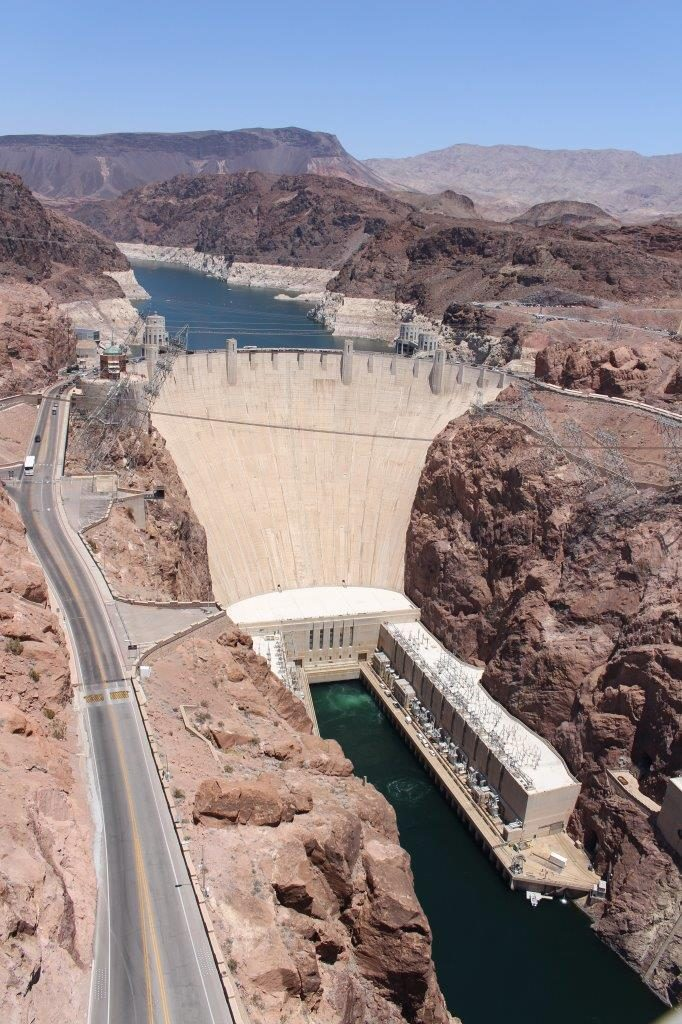 Hoover Dam and Lake Mead, over Colorado River