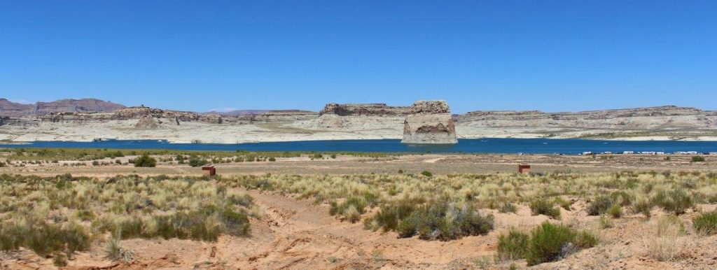 A view of Lake Powell, inside Glenn Canyon National Recreational Area
