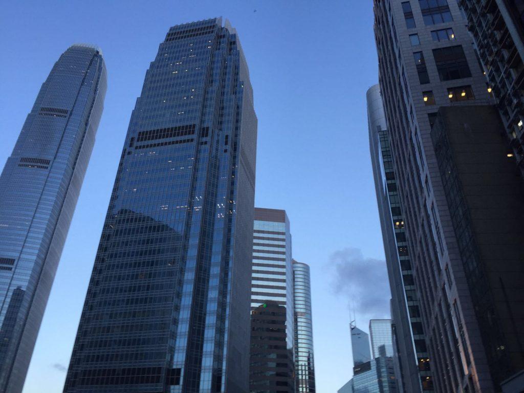 Impressive skyscrapers in Hong Kong