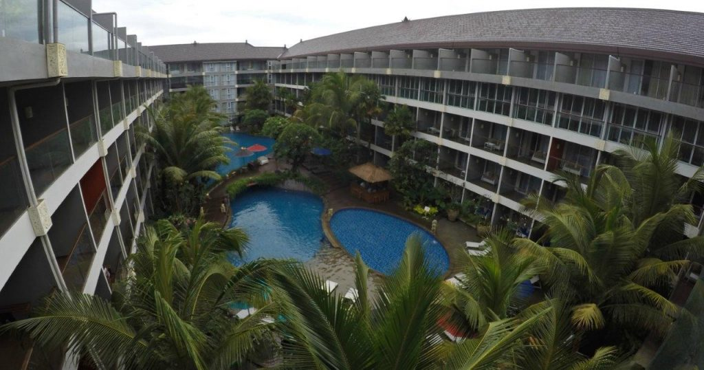 The pool was covering almost all the inner area at the Ramada Encore Bali Seminyak