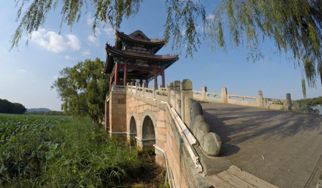 Willow Bridge at the Summer Palace of Beijing