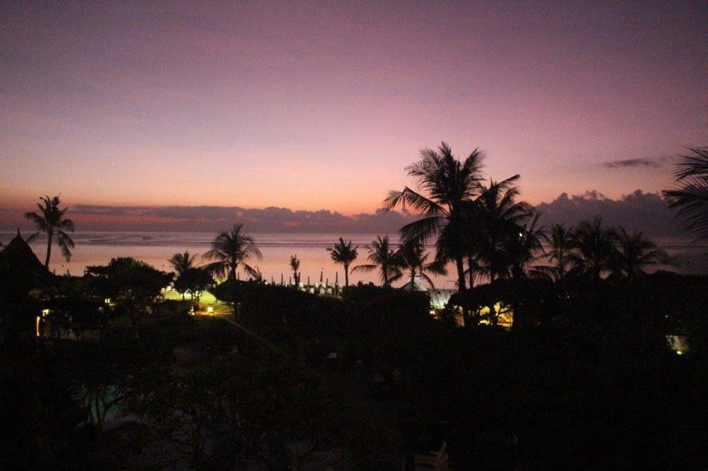 Beautiful sunset from the Grand Mirage Resort & Thalasso Bali