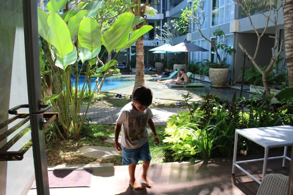 Our second room at the Ramada Encore Bali Seminyak was just next to the pool