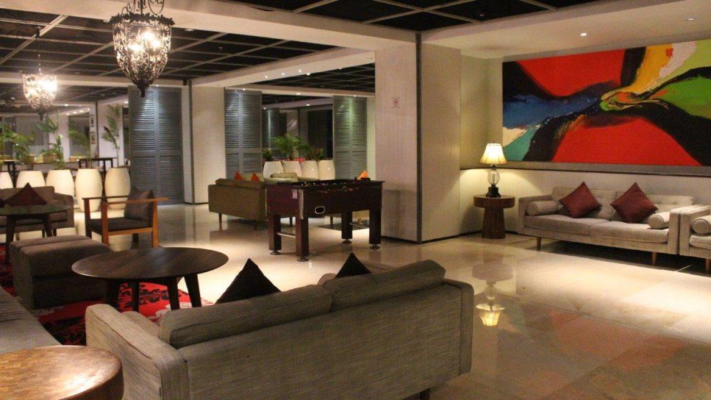 The lounge area at the Ramada Encore Bali Seminyak