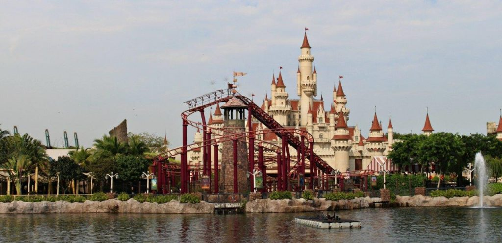 Enchanted Airways rollercoaster at Universal Studios Singapore