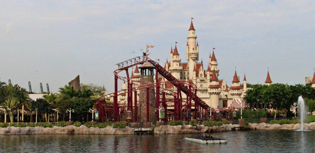 Enchanted Airways rollercoaster at Universal Studios Singapore