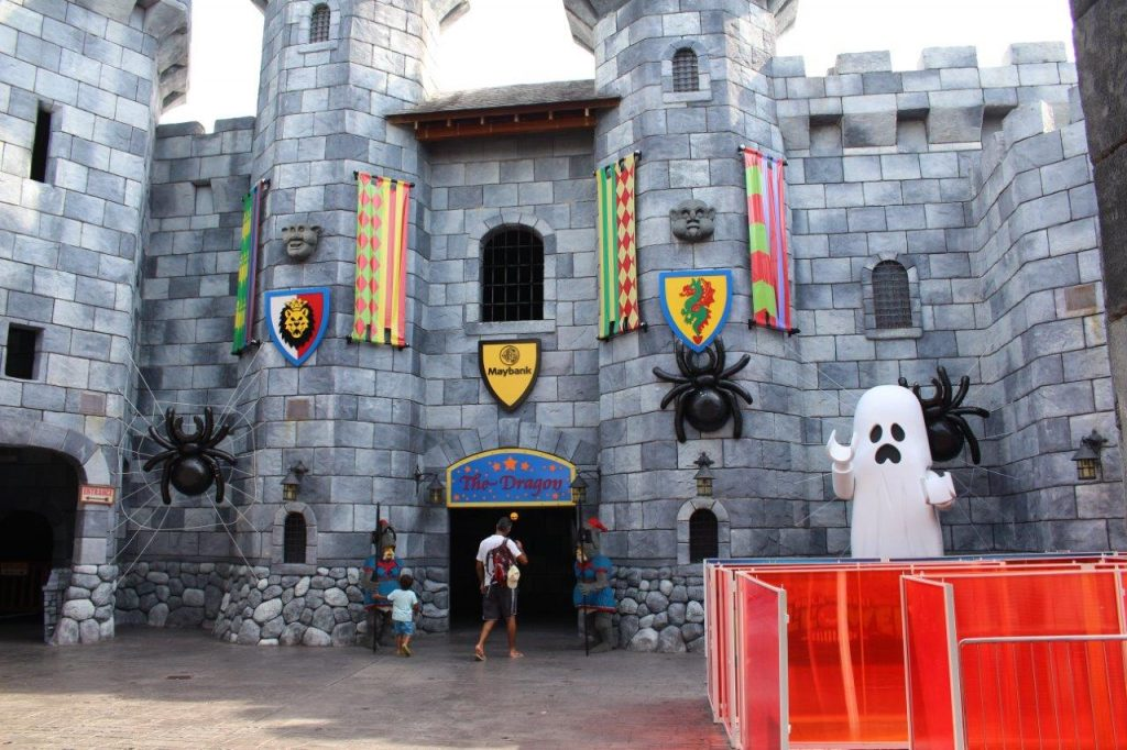 Entering the castle at Legoland Malaysia for The Dragon