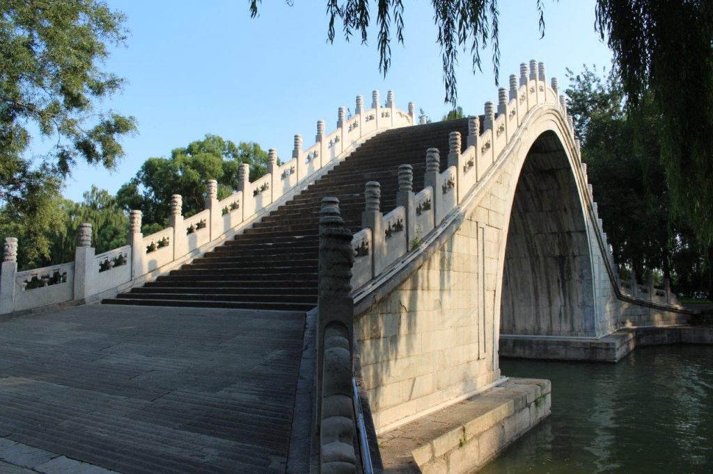 Jade Belt Bridge at the Summer Palace of Beijing