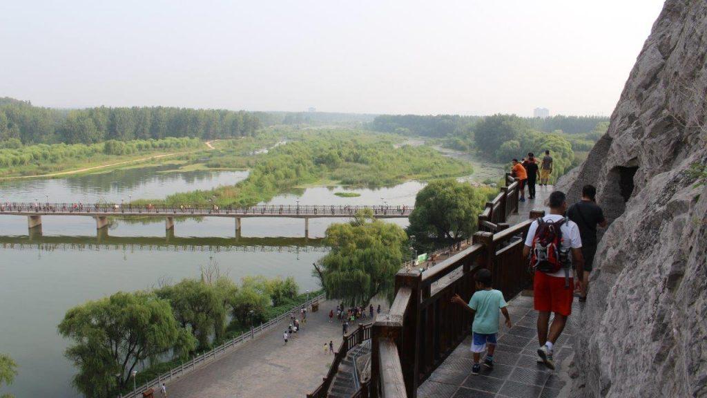 Longmen National Wetland Park, viewed from Longmen Hill