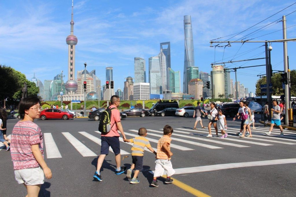 An initial glance of the skyline in Shanghai