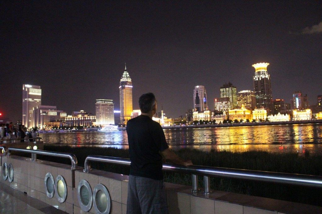 the views of the skyline of Shanghai at night are even better than at daylight