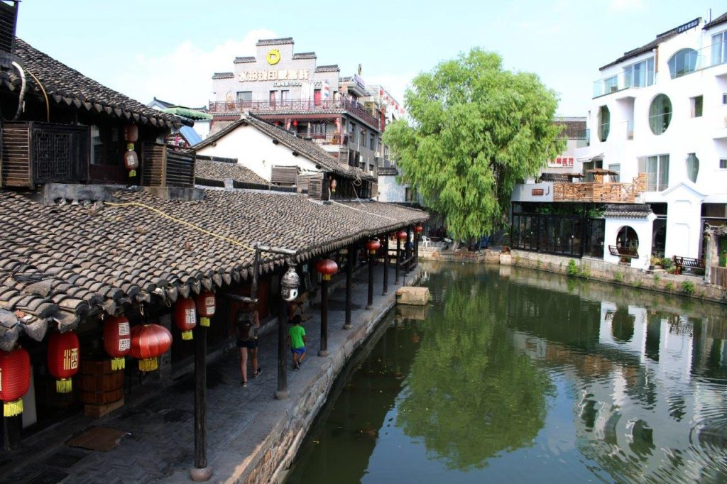the water town of Xitang, near Shanghai