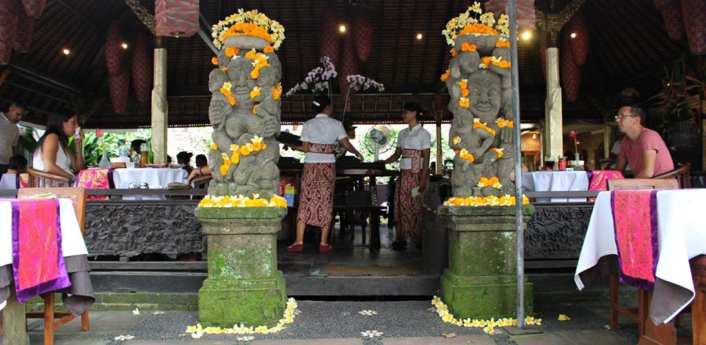 Restaurant Ibu Rai. One of the best ones in Ubud, Bali