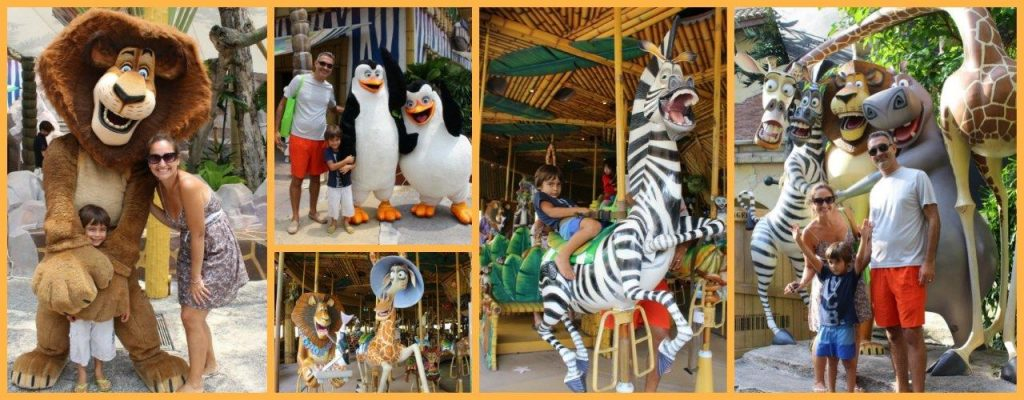 One of the parts that Noah enjoyed the most at Universal Studios Singapore - Madagascar!