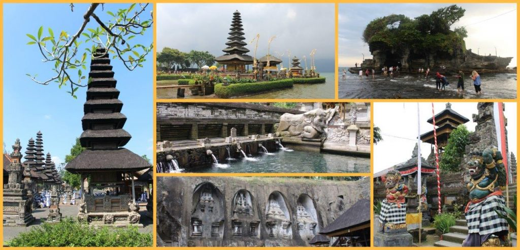 Bali is well served of temples. Many visitors and prayers all around
