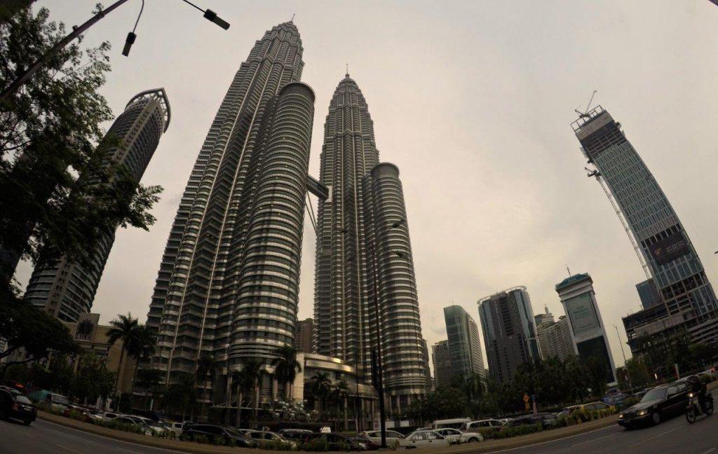 The imposing Petronas Towers in Kuala Lumpur, Malaysia