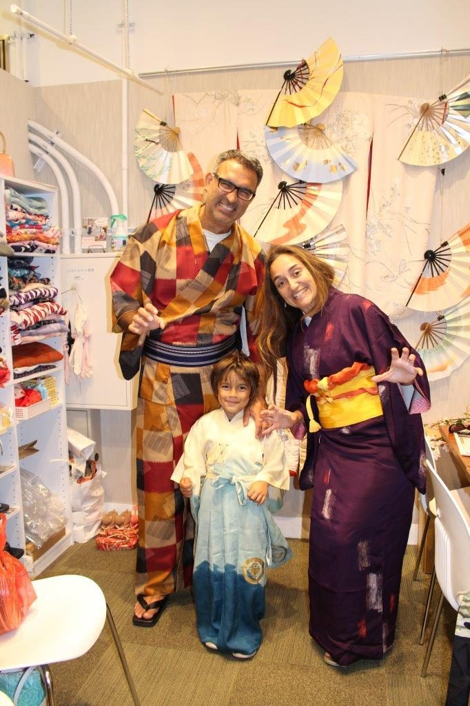 Even Noah accepted to dress the traditional costumes in Japan