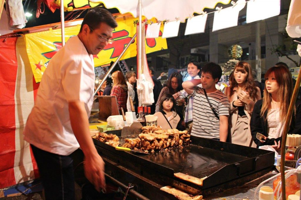 Lots of options for food during Oeshiki Festival in Tokyo