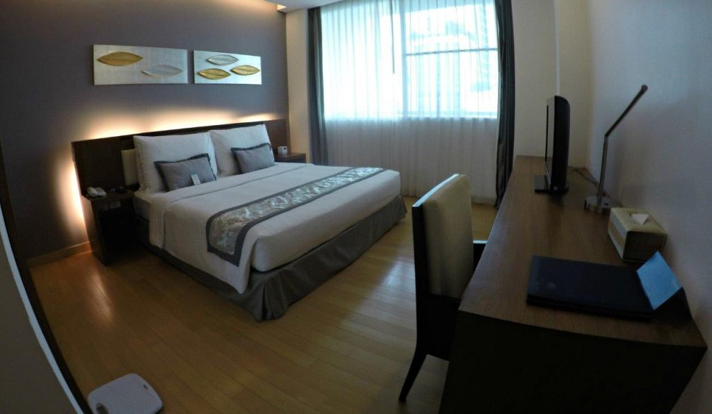 Our bedroom at Shama Sukhumvit Bangkok was spacious and gave us lots of privacy that we needed