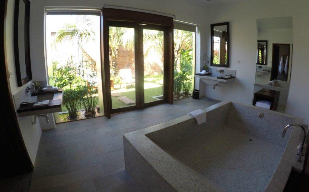 The huge bath in our Executive room at Elegant Angkor Resort & Spa