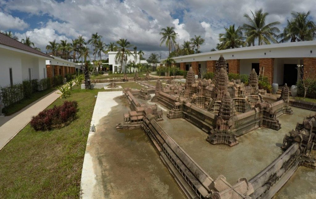 A very detailed mini model of Angkor Wat right inside the property of Elegant Angkor Resort & Spa