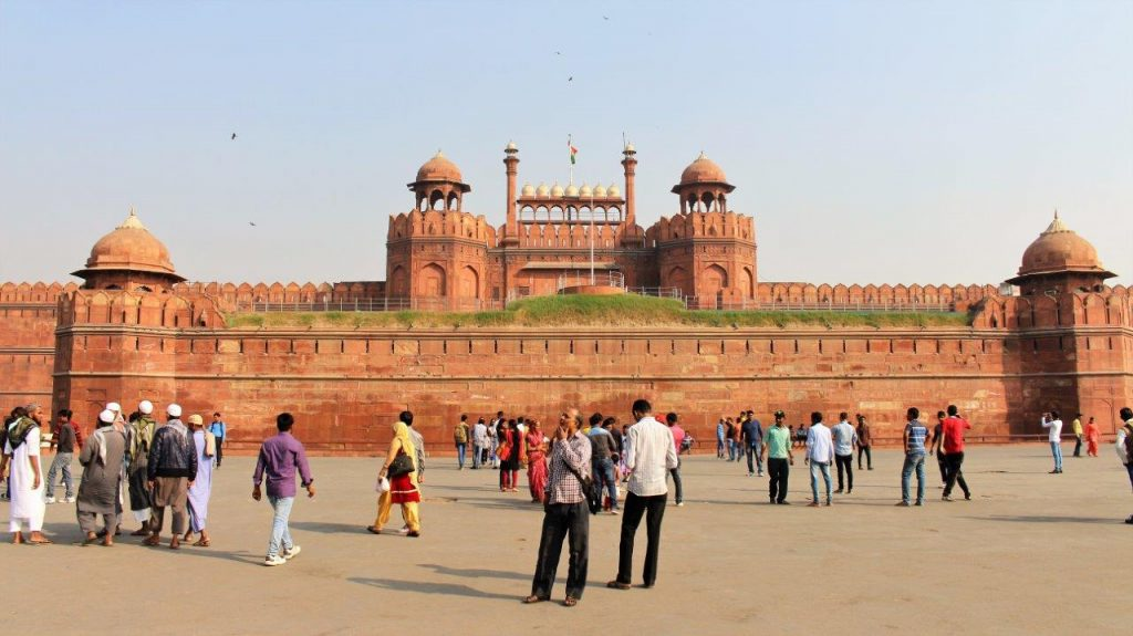 The impressive Red Fort in Delhi