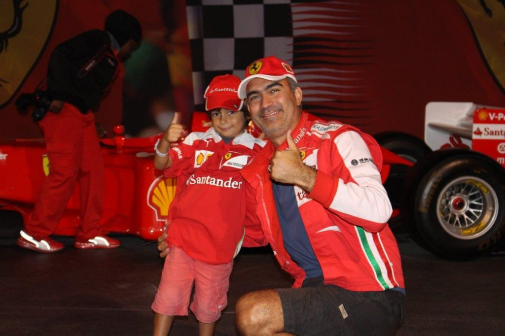 Noah and myself had a blast at Ferrari World Abu Dhabi