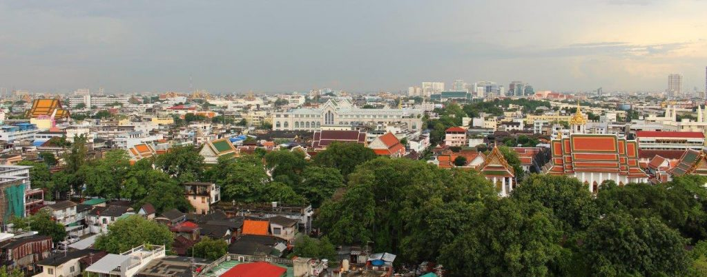 Golden Mount in Bangkok is totally worth a visit, for the temple, for the religion and for the views of the city from the top