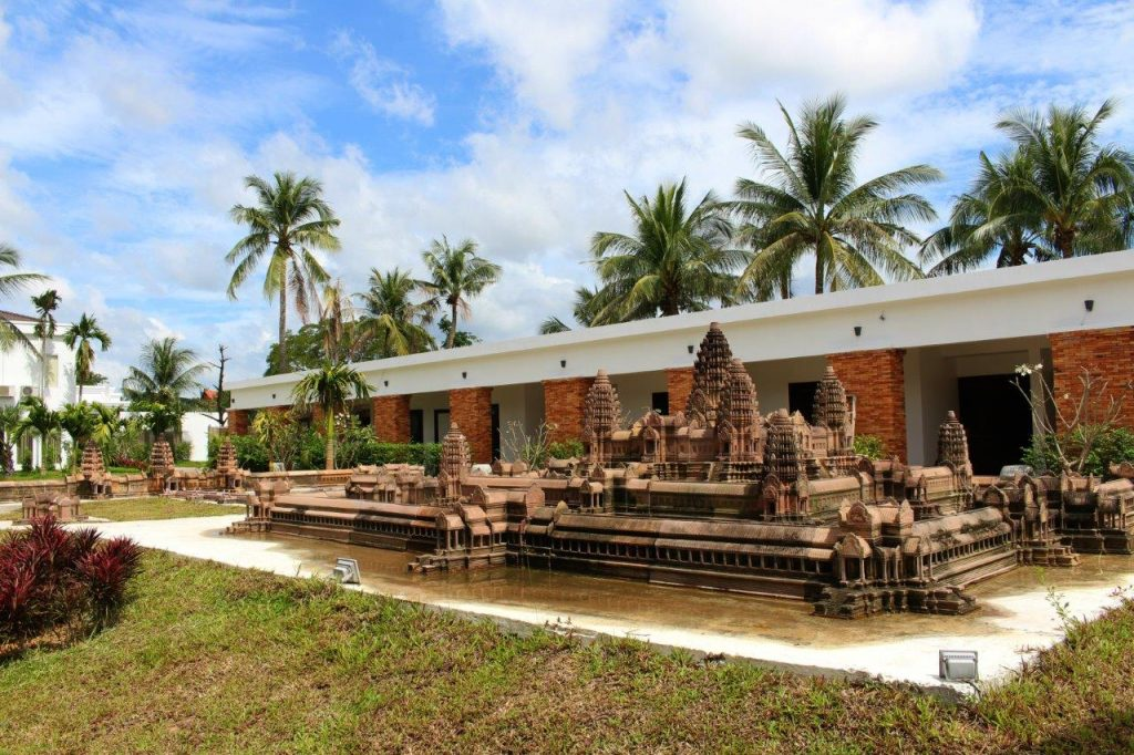 the miniature replica of Angkor Wat inside the property of Elegant Angkor Resort & Spa in Siem Reap