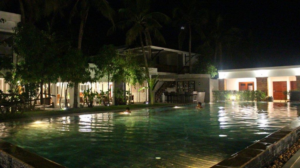 Even at late hours the temperature of the pool at Elegant Angkor Resort & Spa in Siem Reap was just perfect