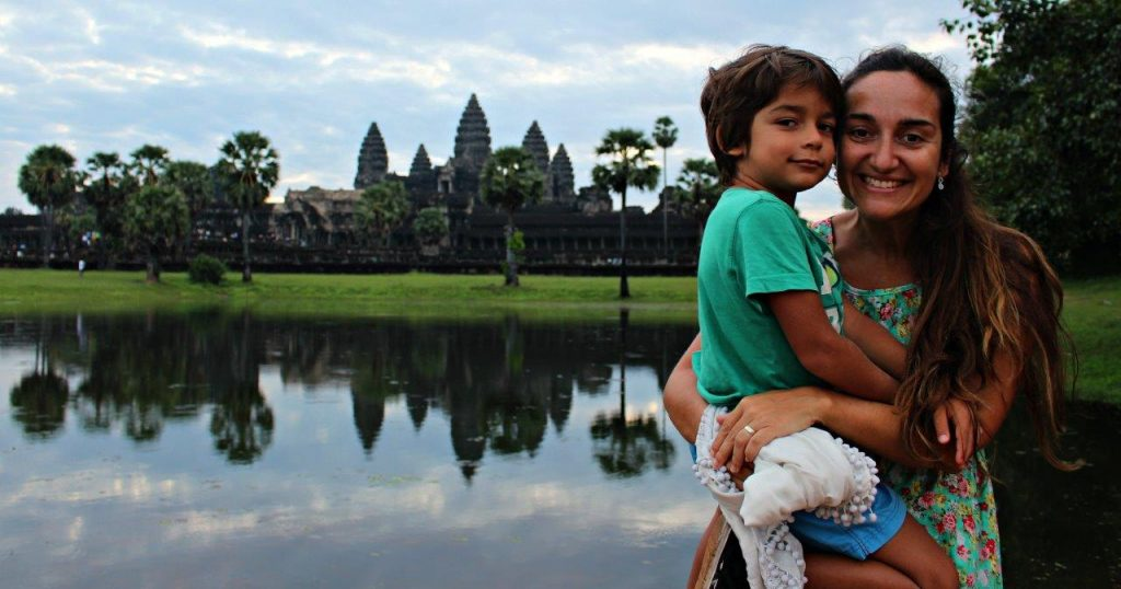 One of the amazing views of Angkor Wat, in Siem Reap, just after sunrise