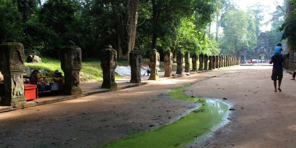 Entering the ruins at Angkor Wat, Cambodia, in the big circuit