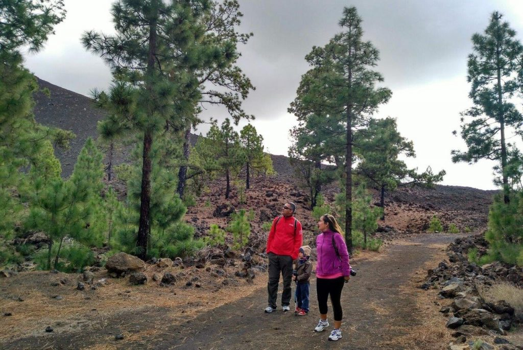 Our family enjoying the trail Circular del Chinyero in Tenerife