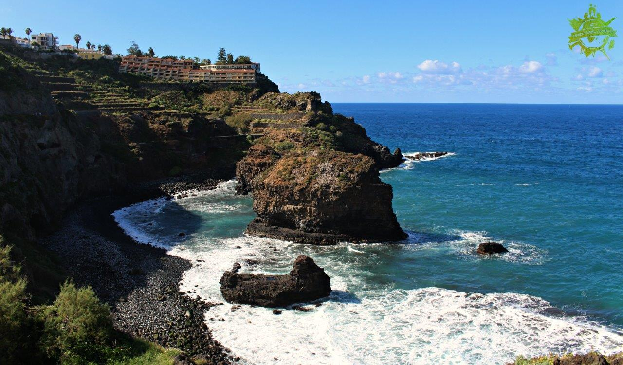 Sunny day during our excursion through Rambla de Castro in Tenerife